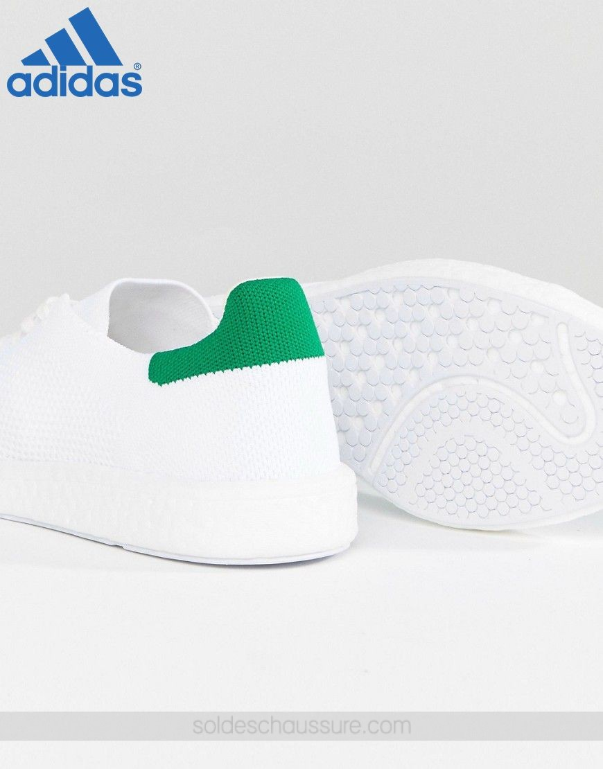 Adidas Originals Stan Smith Boost Primeknit Blanc // [Basket Adidas Soldes] - Adidas Originals Stan Smith Boost Primeknit Blanc // [Basket Adidas Soldes]-01-3